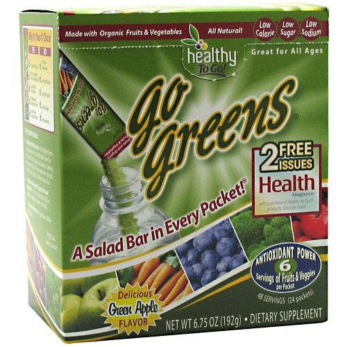 To Go Brands Go Greens, 24-Count Boxes Apple Melon