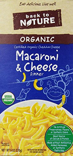 Back to Nature Dinner Mac N Cheddar Cheese 6.0 OZ