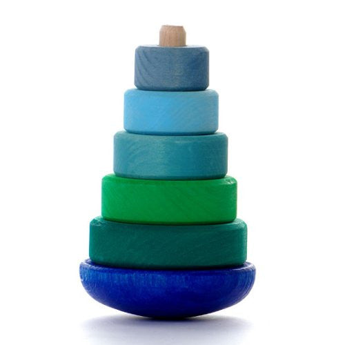 Wobbly Stacking Tower, blue-green