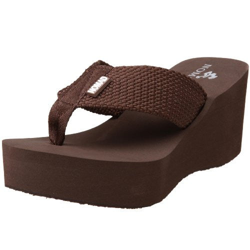 Nomad Footwear Women's Tide High Platform Thong,Brown,5 M US