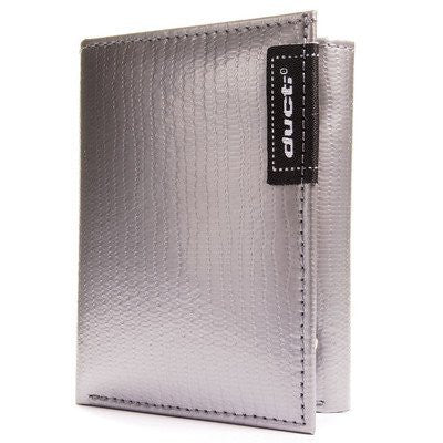 Ducti Hybrid Tri Fold Wallet (Color: Silver/Black)