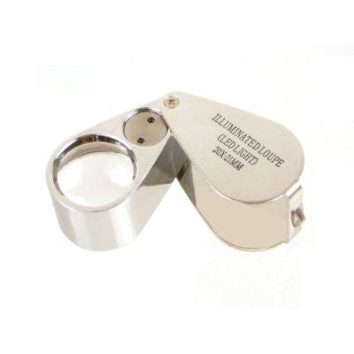 10x 21mm, 2 LED Illuminated Jeweler's Loupe