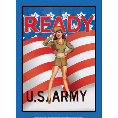 Tin Sign: Garry Palm - Ready US Army