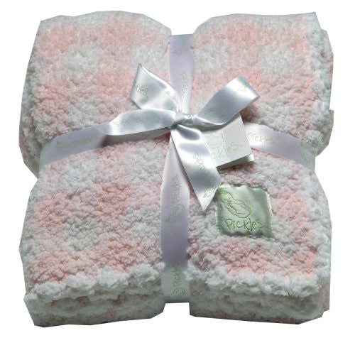 Check Baby Fleece Blanket, Pink