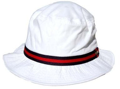 "Scala Pro Bucket - Water REpellent Paplin, Grosgrain, 2"" Brim - White, XL"