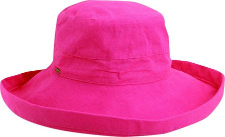 Scala Women's Cotton Big Brim Ultraviolet Protection Hat with Inner Drawstring (C. Rose / One Size)