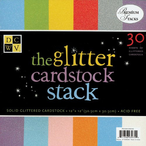 "Diecuts With A View Cardstock Stack 12""X12"" 30/Pkg Glitter"