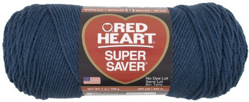 Red Heart E300.0380 Super Saver Economy Yarn, Windsor Blue