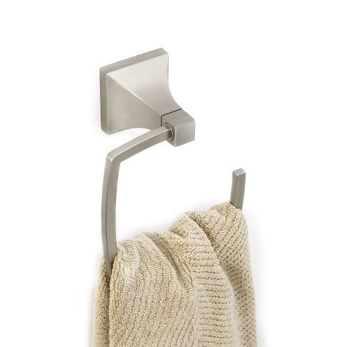 Umbra Zen Die-Cast Metal Towel Ring, Nickel