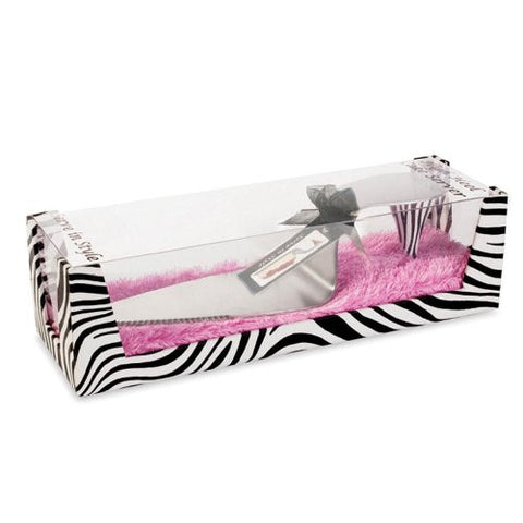 Zebra High Heel Cake Server