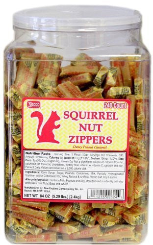 Squirrel Nut Zippers Tub: 240 Pieces