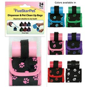 Paw Print Purse Dispensers - Red