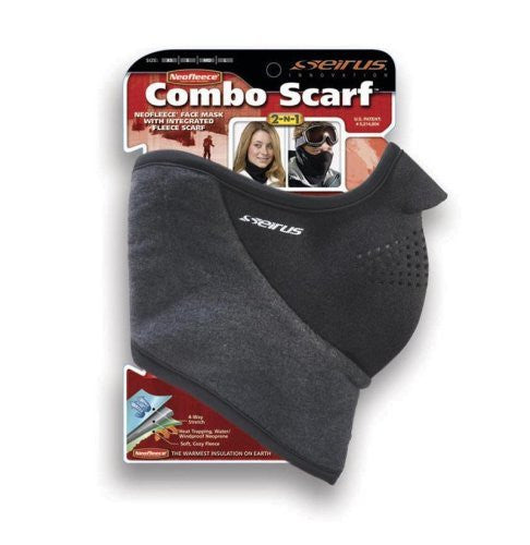 Neofleece Combo Scarf - Black, Extra Small