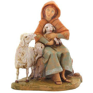 "5"" NAHOME SHEPHERDESS FIG CENTENNIAL COLLECTION FONT"