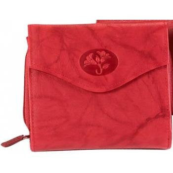 Buxton Heiress Zip Around Wallet RED