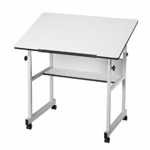 MiniMaster Drafting Table (Gray) (Color: White Material Type: LaminateMetal)
