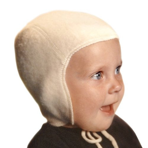 BABY CAP - NO LACE - White 1-2 Years