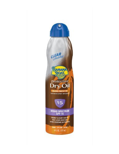 Banana Boat Continuous Spf 15 Spray Dry Oil 6oz