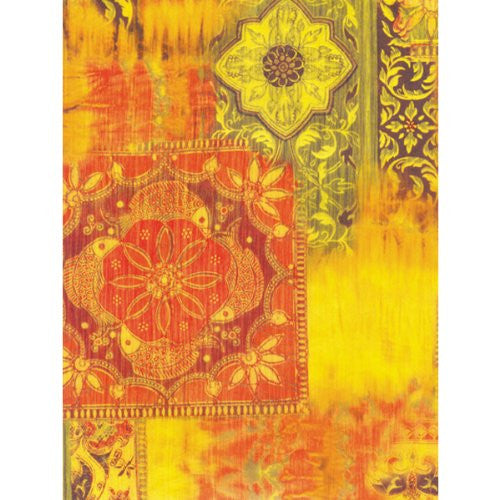 Decopatch OrangeYellow Mix design Decoupage paper 11 3/4 x 15 3/4