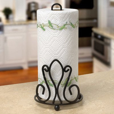 Patrice Paper Towel Holder - Black