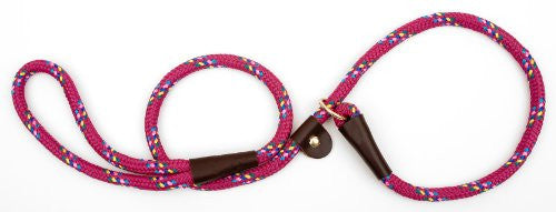 "British Style Slip Lead (1/2"" x 6ft.) - Raspberry Confetti"
