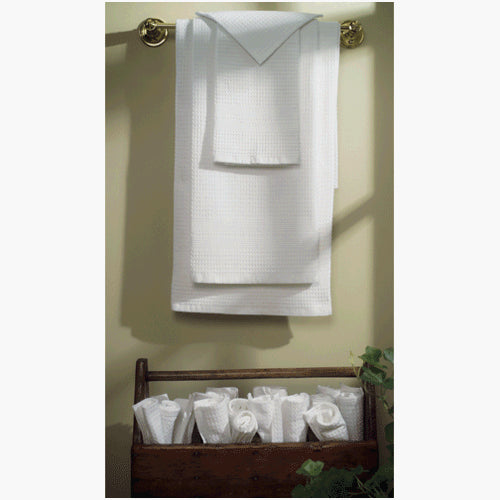 Classic Waffle Weave Hand Towel - White