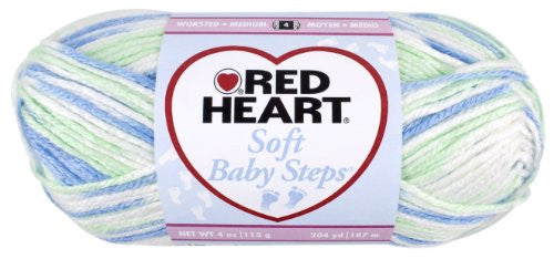 Red Heart E746.9932 Soft Baby Steps Yarn, Puppy Print