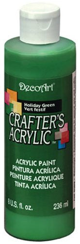 Deco Art Crafter's Acrylic All Purpose Paint 8oz Holiday Green