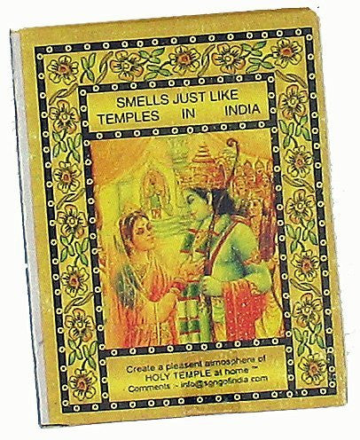Song of India Temple Incense Cones, 25/box