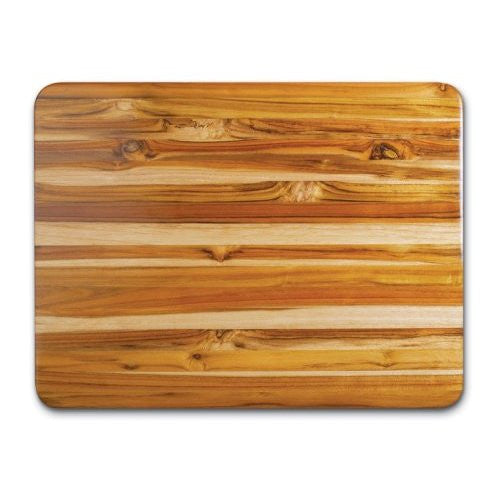 Proteak Teak Cutting Board Rectangle 24-by-18-by-1-1/2-Inch Edge Grain with Hand Grip