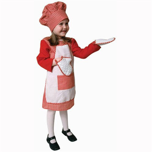 Red Gingham Girl Chef