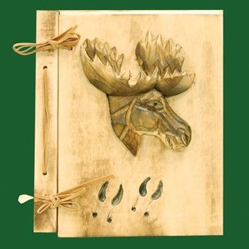 Moose Carved Photo Album