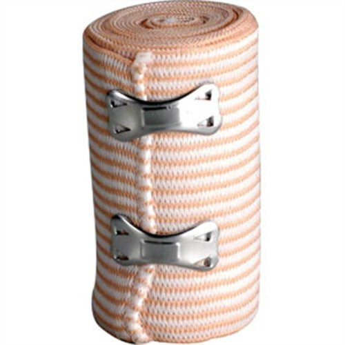 "First Aid Only™ Elastic Bandage Wrap, Latex-Free, 4"" x 5 Yards, 9/Bx"
