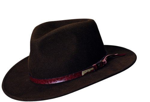 Indiana Jones Men's Outback Fashion Comfort Brim Hat (Brown / X-Large)