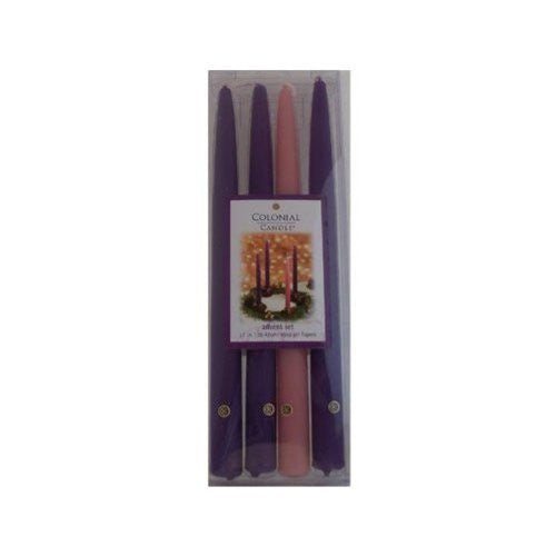 "Advent Candles 12"" Handipt Gift Set"