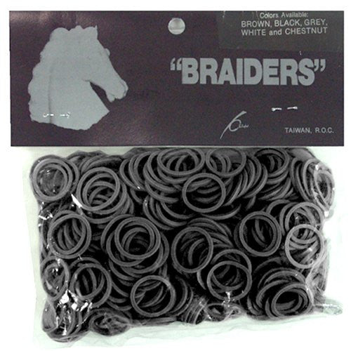 Braid Bands - Black - 500/Pack