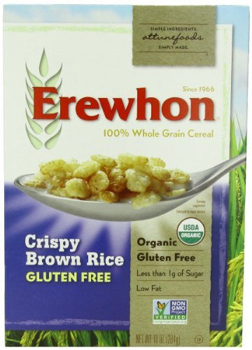 EREWHON Wheat Free Cereal Crispy Brown Rice, Gluten Free - 10 oz