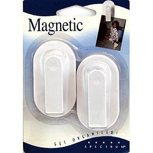Magnetic Clip 2/Card - White