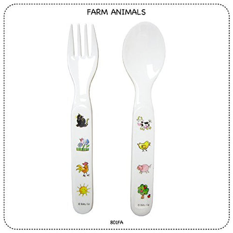 FARM ANIMALS  FORK & SPOON