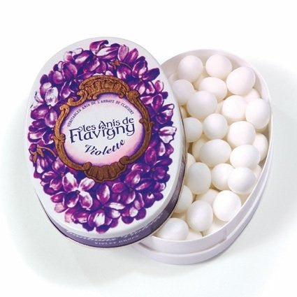 Les Anis de Flavigny Violet All Natural Mints, 1.8 oz