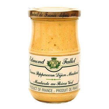 Edmond Fallot Green Peppercorn Mustard, 7 oz
