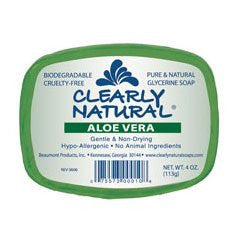CLEARLY NATURAL Glycerine Soap Aloe Vera 4 OZ