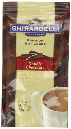 GHIRA HOT CHOC DBL CHOC .85oz PACKET 23ct GHIRARDELLI - Package