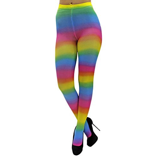 Printed Tights Adult One Size - Rainbow