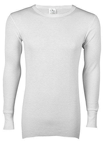 Indera Men's Icetex Cotton Outside/Fleeced Hydropur Inside Top (White / XX-Large)
