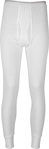 Indera Men's Icetex Cotton Outside/Fleeced Hydropur Inside Pant (White / Large)