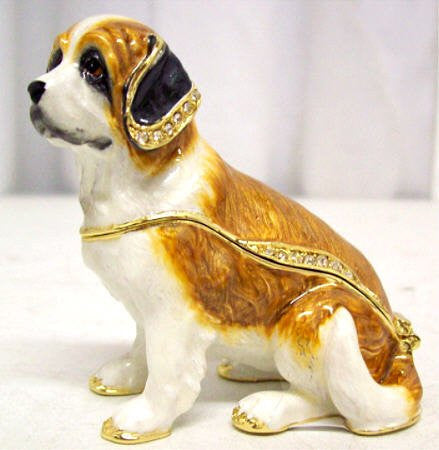 St. Bernard Jeweled Box