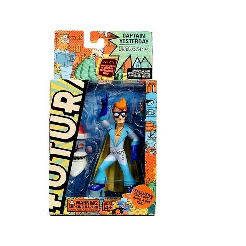 Futurama Toynami Series 4 Action Figure Fry as Captain Yesterday (Variety Pack)