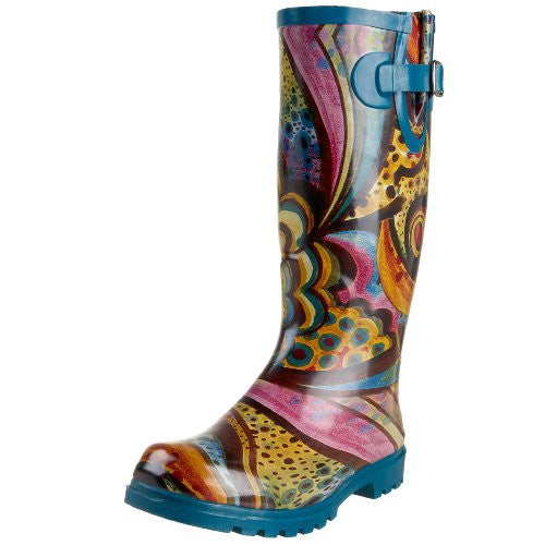 Nomad Women's Puddles Rain Boot, Turquoise Monet, 5 M US