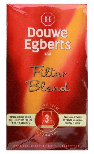 Douwe Egberts Filter Blend Ground Coffee 250g
